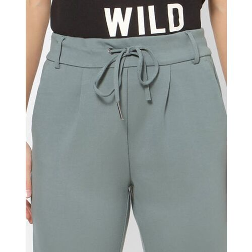 Only Flat-Front Trousers with Semi-Elasticated Waistband