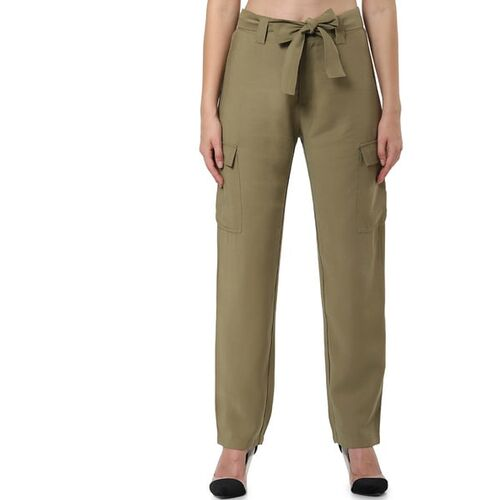 Only Flat-Front Pants with Waist Tie-Up