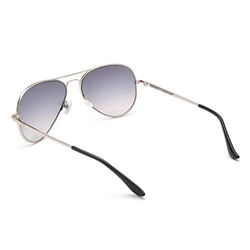IDEE Mirrored Aviator Unisex Sunglasses - (IDS2500C45SG 58 White Mirror-Smoke Gradient Color Lens)