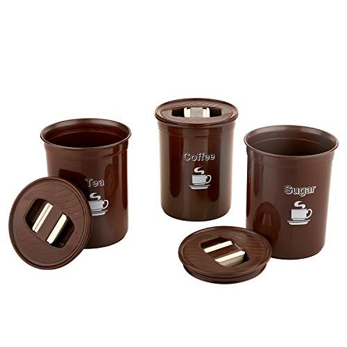 ASIAN 10000412 Plastic Container - 850ml, 3 Pieces, Brown