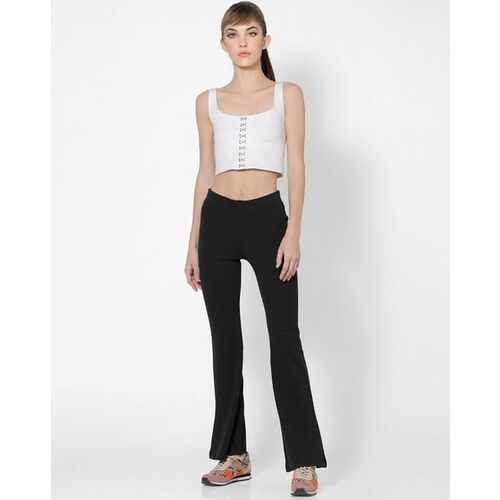 Only Flat-Front Flared Trousers