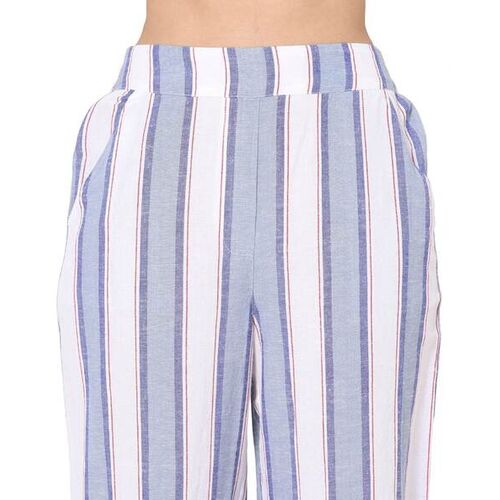 Only Striped High-Rise Pants
