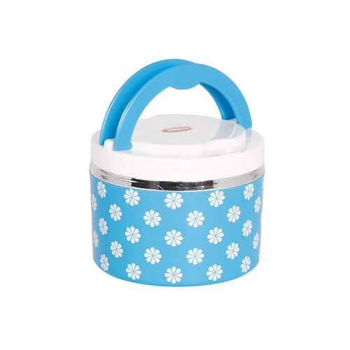 jayco plastic insulated venice designed layers lunch box (blue)