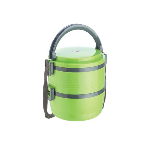 jayco home meal junior 2 containers hot lunch pack, green