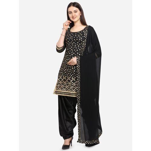 EthnicJUnction Chanderi Cotton Embroidered Salwar Suit Material(Unstitched)