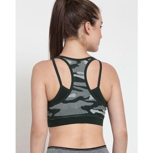 PrettyCat Camouflage Print Sports Bra