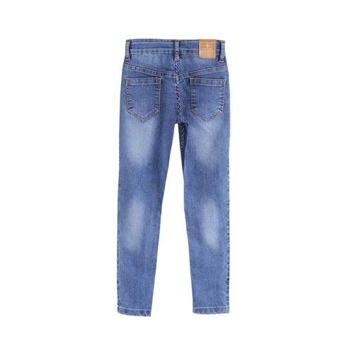 612 league Girls Blue Regular Fit High-Rise Clean Look Jeans