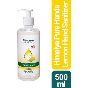HIMALAYA PureHands Lemon Hand Sanitizer Pump Dispenser(500 ml)
