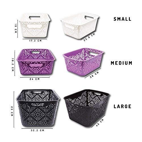 Cutting EDGE Turkish Baskets Large (42 x 32 x 23 cm) for Kitchen, Vegetables, Toys, Books, Office, Stationery, Utility, Cosmetics, Accessories, Closet, Wardrobe
