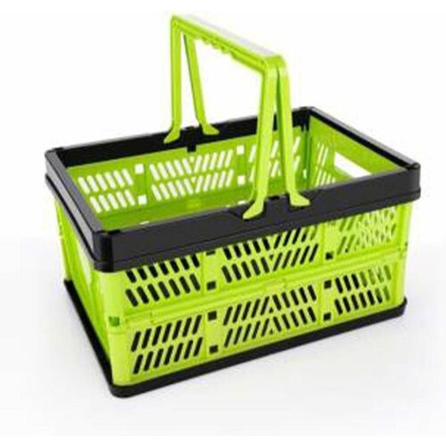 Gambit Multipurpose foldable Collapsible Storage Basket Stackable Storage Container Foldable Basket Storage Basket Folding Shopping Basket, Food Snacks Picnic