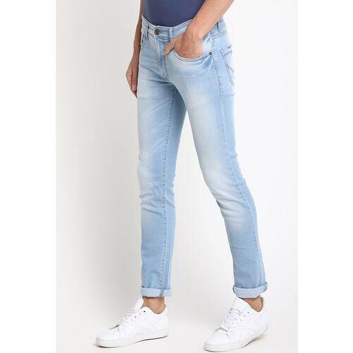 Pepe Jeans Men Blue Slim Fit Mid-Rise Clean Look Jeans