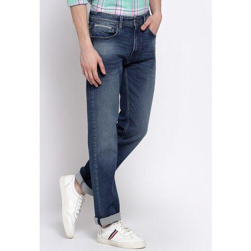 Pepe Jeans Men Blue Regular Fit Mid-Rise Clean Look Jeans