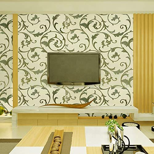 Wolpin Wall Stickers Wallpaper Stylish Pattern (45 x 500 cm) Extra Large PVC Living Room Decoration Self Adhesive, Beige