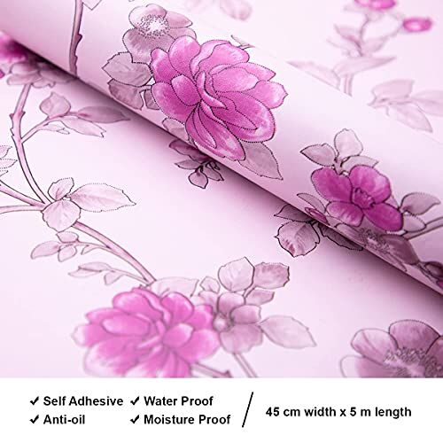 Wolpin Flowers Wall Sticker Wallpaper