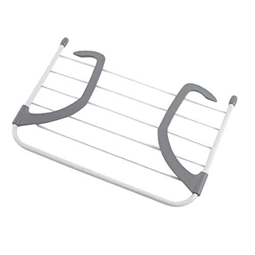 Spaces Xectes Foldable Clothes Drying Rack Garment Laundry Dryer Hanger Stand Balcony Towel Stand Kids Cloth Drying Rack Shoe Stand Balcony Cloth Storage Holder