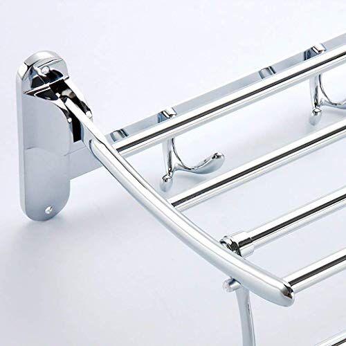 Plantex Pitru Stainless Steel Folding Towel Rack for Bathroom/Towel Stand (Chrome Finish)