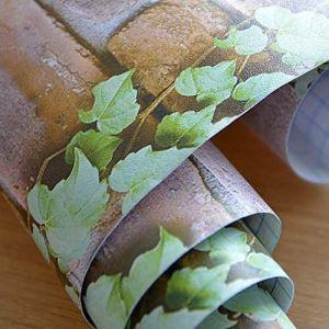 Wolpin 3D Bricks and Vine Wallpaper Sticker