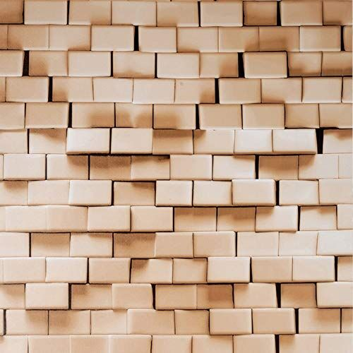 Amazon Brand - Solimo PVC Self-Adhesive WallPaper, Modern Bricks, 45 x 500 cm