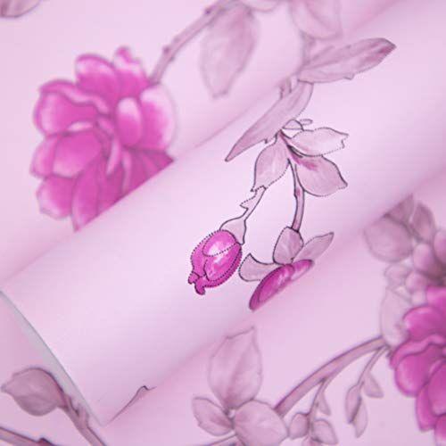 Amazon Brand - Solimo PVC Self-Adhesive WallPaper, Pink Flowers, 45 x 500 cm