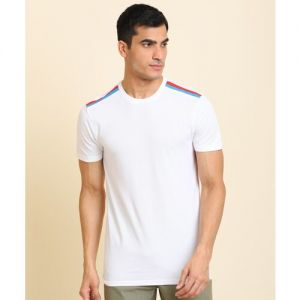 United Colors of Benetton Solid Men Round Neck White T-Shirt