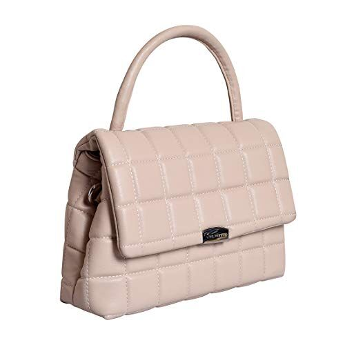 Lino Perros women off-white coloured quilted satchel bag