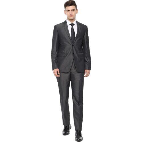 LOUIS PHILIPPE Two-Piece Suit Solid Men Suit