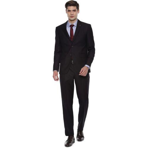 LOUIS PHILIPPE Louis Philippe Brown Two Piece Suit 2 Piece Self Design Men Suit