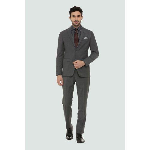 LOUIS PHILIPPE Louis Philippe Grey Two Piece Suit 2 Piece Textured Men Suit