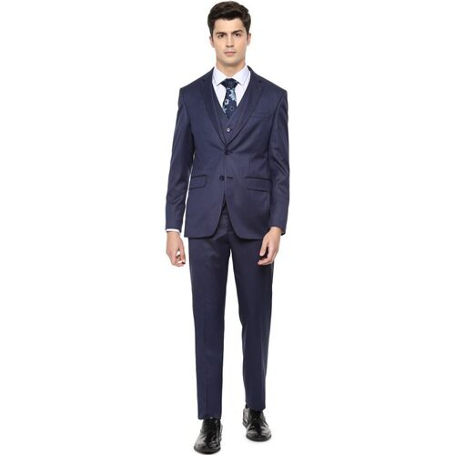 LOUIS PHILIPPE Single Breasted Solid Men Suit