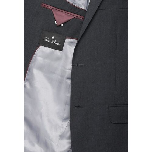 Louis Philippe Charcoal Grey Ultra Fit Single-Breasted Formal Suit