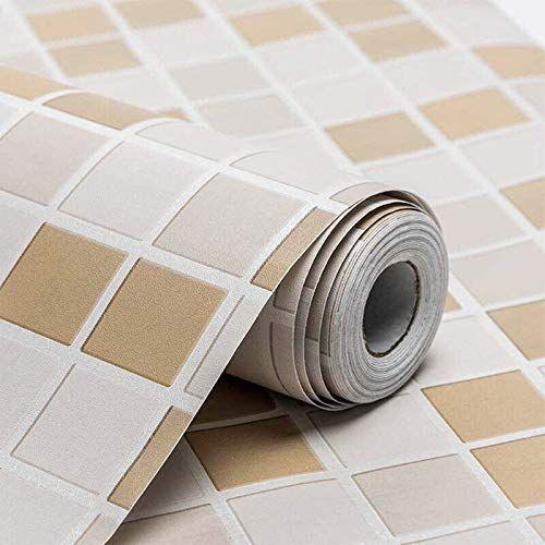 Amazon Brand - Solimo PVC Self-Adhesive WallPaper, Tiles, 45 x 500 cm