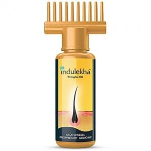 Indulekha Bringha Oil, Reduces Hair Fall and Grows New Hair, 100% Ayurvedic Oil, 100ml