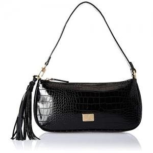Van Heusen Black Synthetic Textured Shoulder Bag
