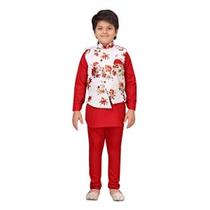 AJ Dezines Kids Ethnic Wear Kurta Pajama and Waistcoat Set For Boys