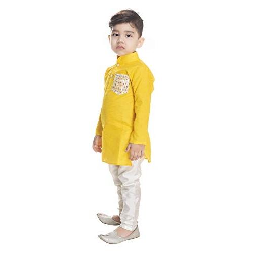 NEW GEN Boy's Synthetic Kurta Pyjama Set