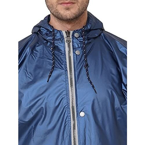 ZEEL Mens Raincoat with Hood |Water Fighter/Rain Coat With Waterproof Pant and Carrying Pouch