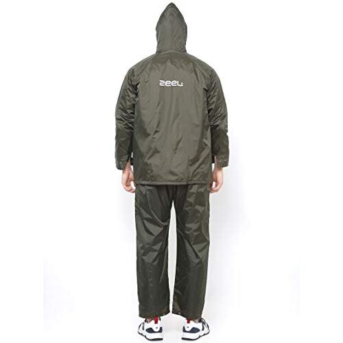 ZEEL Men's Solid Rain Suit (R2-XL-JS111-GREEN_Green_X-Large)