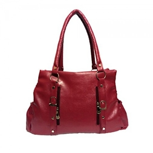 SANDYS COLLECTION Maroon Synthetic Shoulder Bag