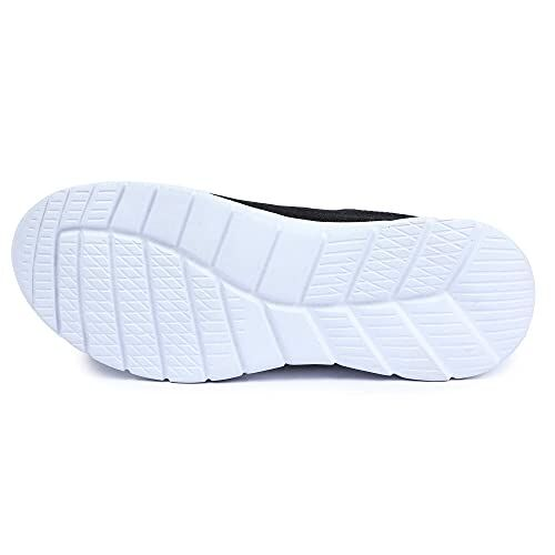 Earth Step Women Stylish Fashionable & Sneaker Shoes for Running/Sports/Outdoors/Morning Walking/Basketball/Trekking/Dance (Black)_ES-5001-108-37