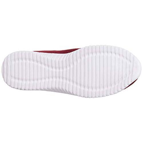 Bourge Maroon Mesh Slip On Running Shoes