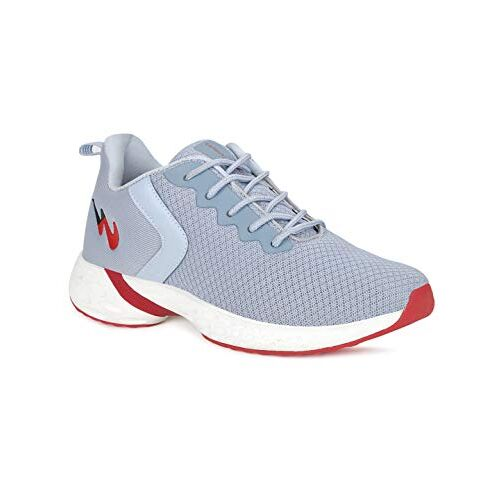 Campus Grey Mesh Lace Up Round Toe Sports Shoes