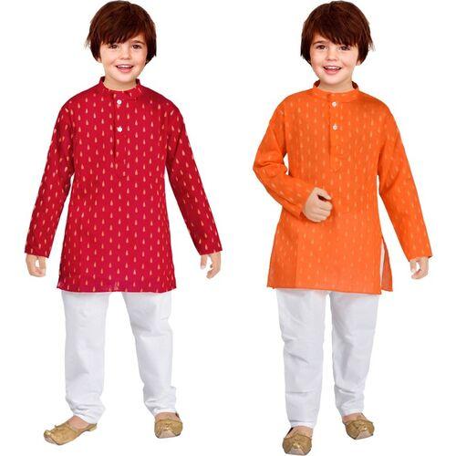 UBFASHIONS Boys Festive & Party Kurta and Pyjama Set(Multicolor Pack of 2)