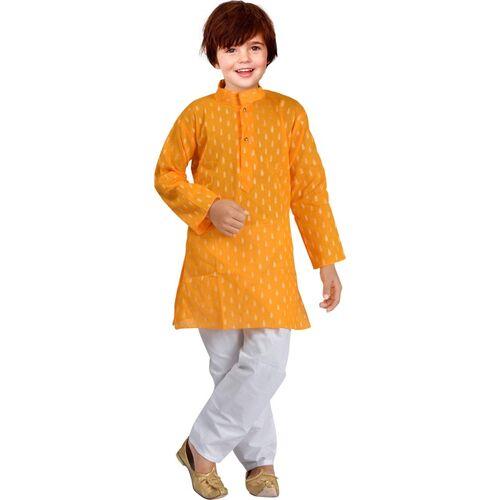 UBFASHIONS Indi Boys Festive & Party Kurta and Pyjama Set(Yellow Pack of 1)