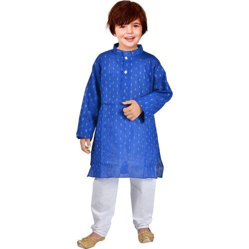 UBFASHIONS Boys Festive & Party Kurta and Pyjama Set(Blue Pack of 1)