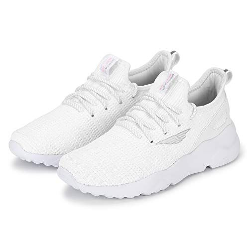 Red Tape White Mesh Lace Up Round Toe Sports Shoes