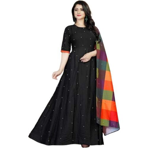 shaktikrupa creation Anarkali Gown(Black)