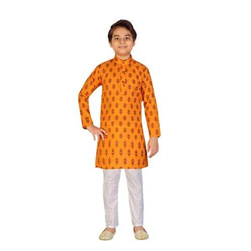 TinySteps Kids Ethnic Wear Printed Cotton Kurta Pyjama Set for Baby Boys