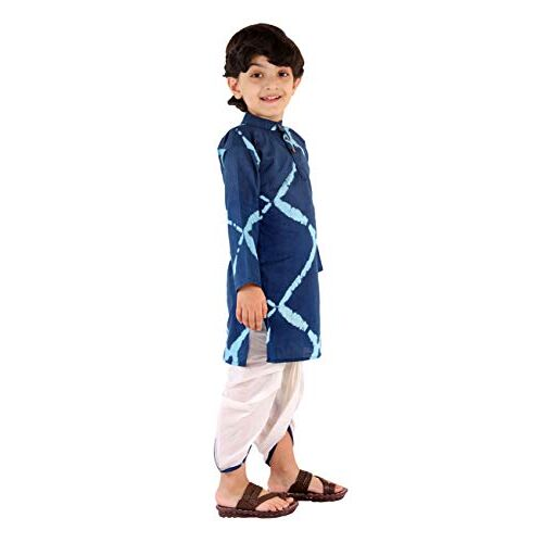 Chipbeys Hand Block Printed Premium Cotton Kurta with Pyjama for Boys