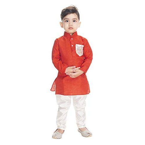 NEW GEN Boom Boys Full Sleeve Pocket Kurta & Paijama Pant_300_RED Pocket
