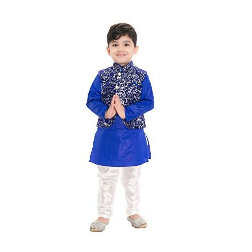 NEW GEN Boys Jacket Kurta & Paijama Pant for